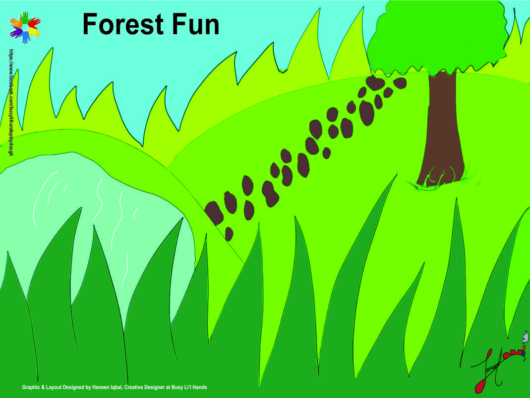 Roll out Play dough Mat - Forest Fun (Small)