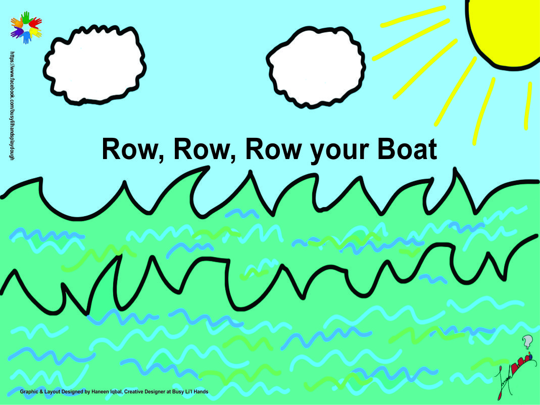 Roll out Play dough Mat - Row Row Row Your
