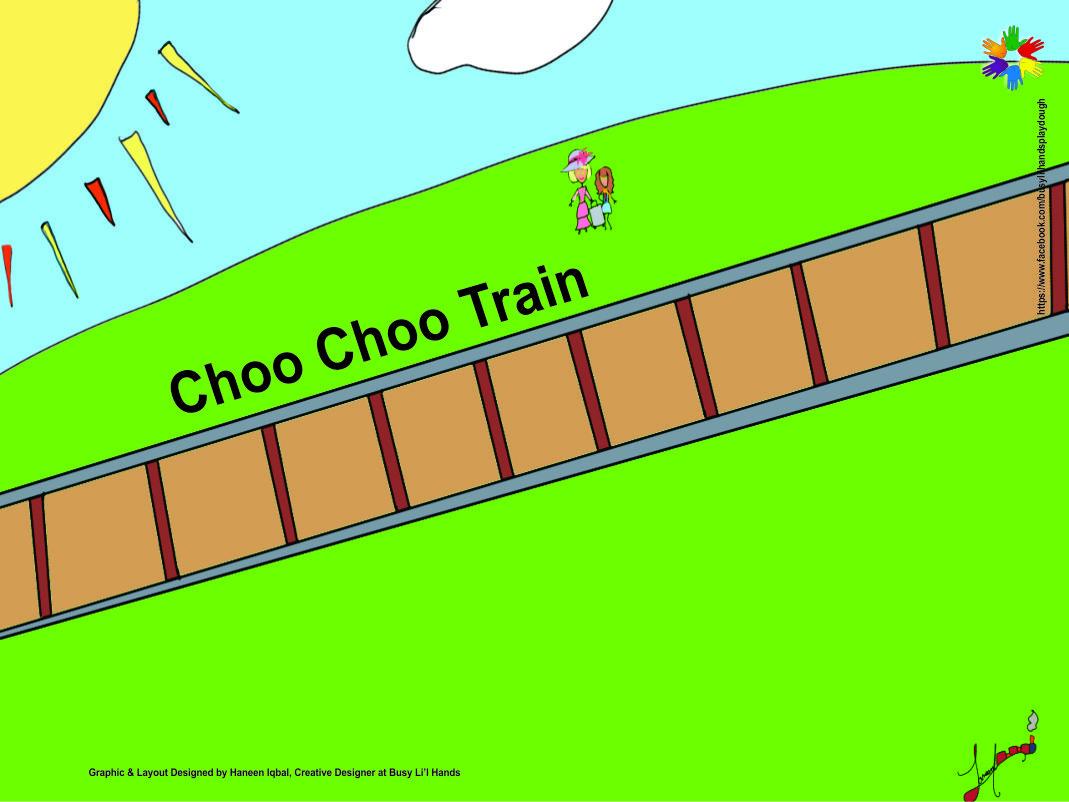 Roll out Play dough Mat - Choo Choo Train (Large)
