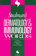 stedman's dermatology and immunology words