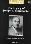 the legacy of joseph a. schumpeter (2 cool set)
