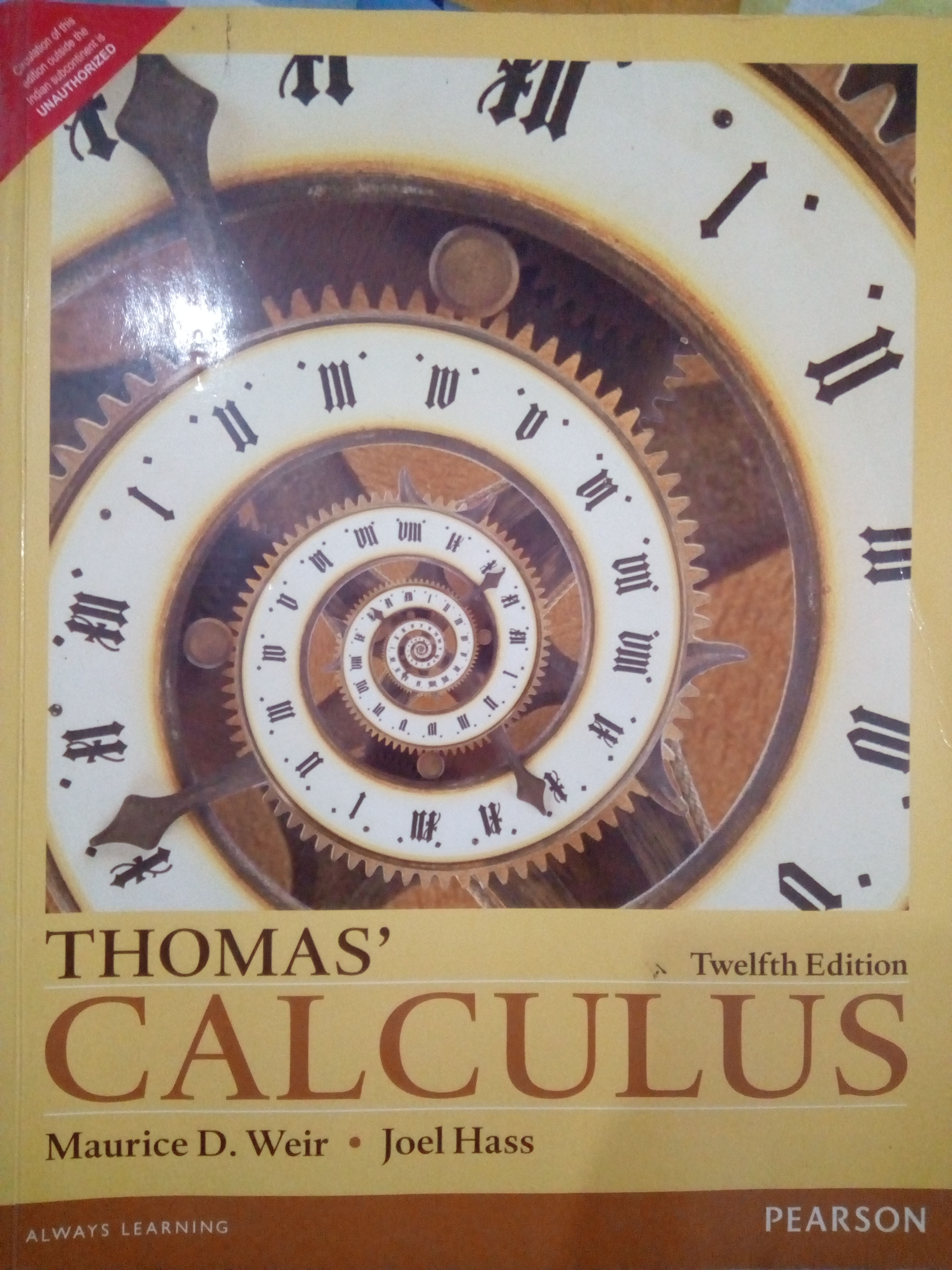 thomas' calculus 12th edition by pearson